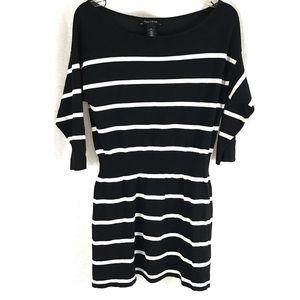 WHBM Striped Mini Sweater Dress M